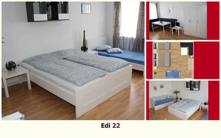 Ferienzimmer Muenchen: Gaestezimmer Edi 22