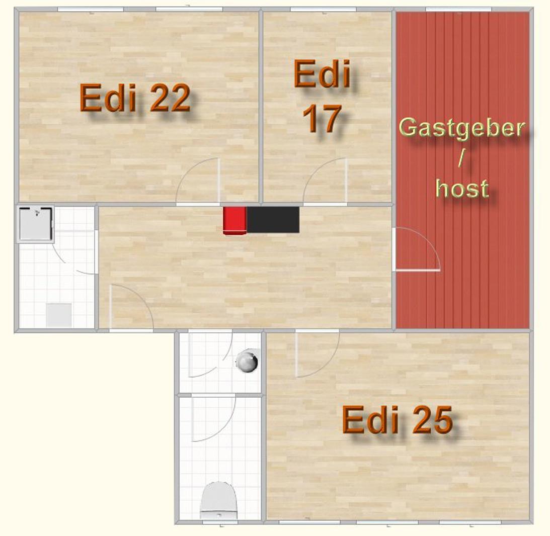 Ferienzimmer Muenchen: Gaestezimmer Edi 25